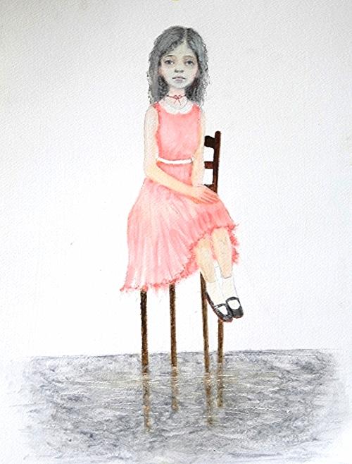 """Sitting Pretty, oil on paper, 11""""x14"""", 2011"""