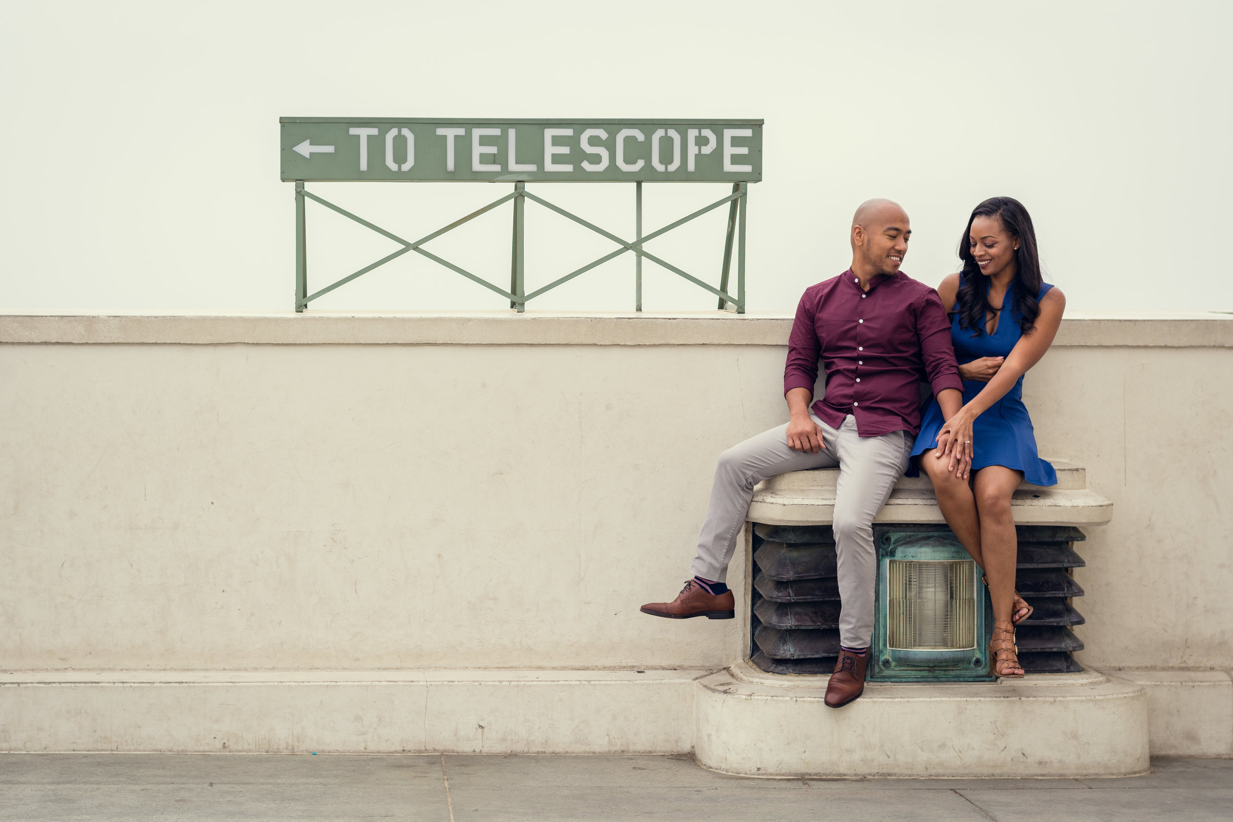 Engagement Photos Taken At Griffith Observatory