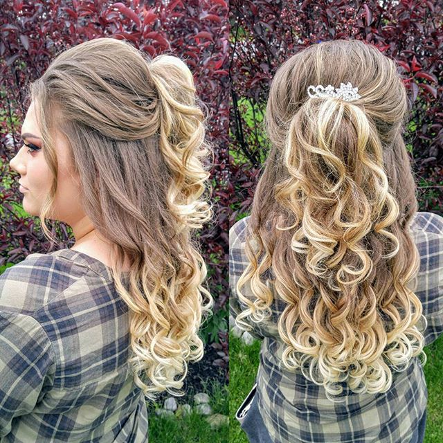 #prom2017 #halfuphalfdown #hairstyles #updos #curls  Shout out to #hairandmakeupbysteph for always inspiring me, Happy Birthday Girl!
