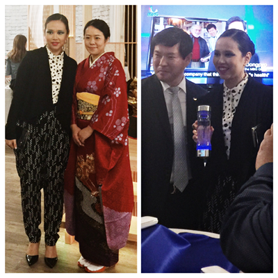 Agnes Muljadi with Brand Represantatives from Okawa 1536 and MBG Medi Hydro