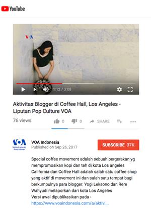 VOA Indonesia, Metro TV & TV One, September 2017