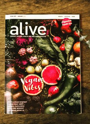 Alive Magazine, Canada, January 2018