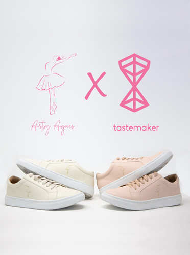 @artsyagnes X TASTEMAKER - Shop my EASE vegan sneakers in collaboration with Tastmaker Supply. 100% of proceeds benefit my tiny house project for LGBTQ homeless youth and my pointe shoe and scholarship funds for underprivileged dancers.