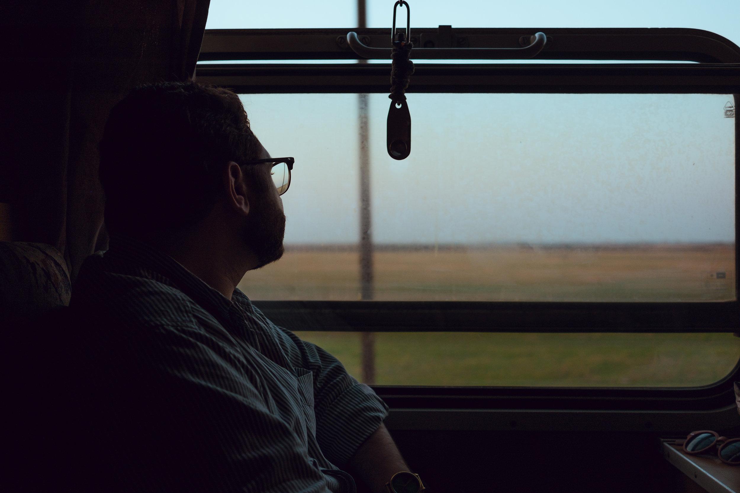 Hungarian countryside via train
