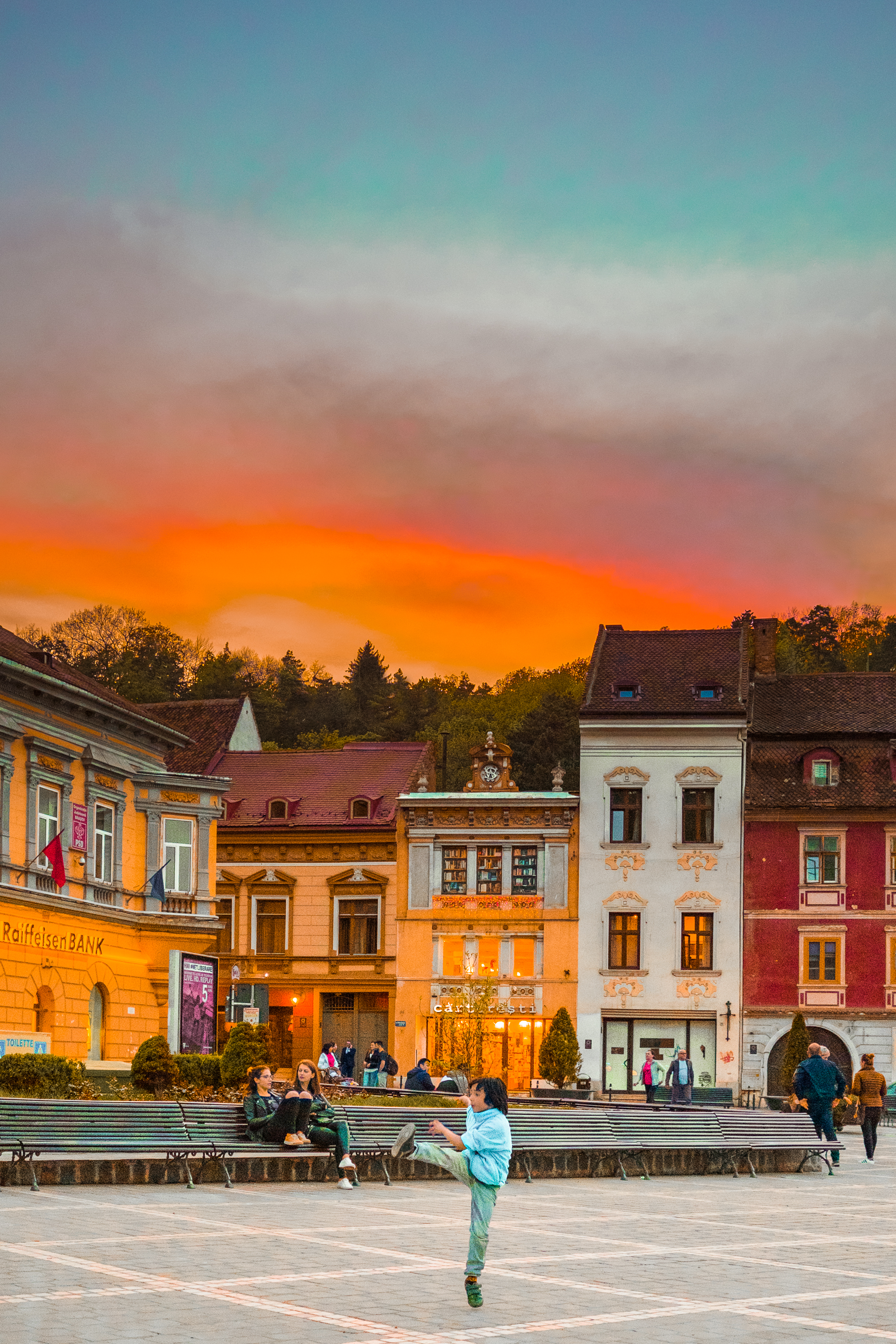 Sunset in Brasov