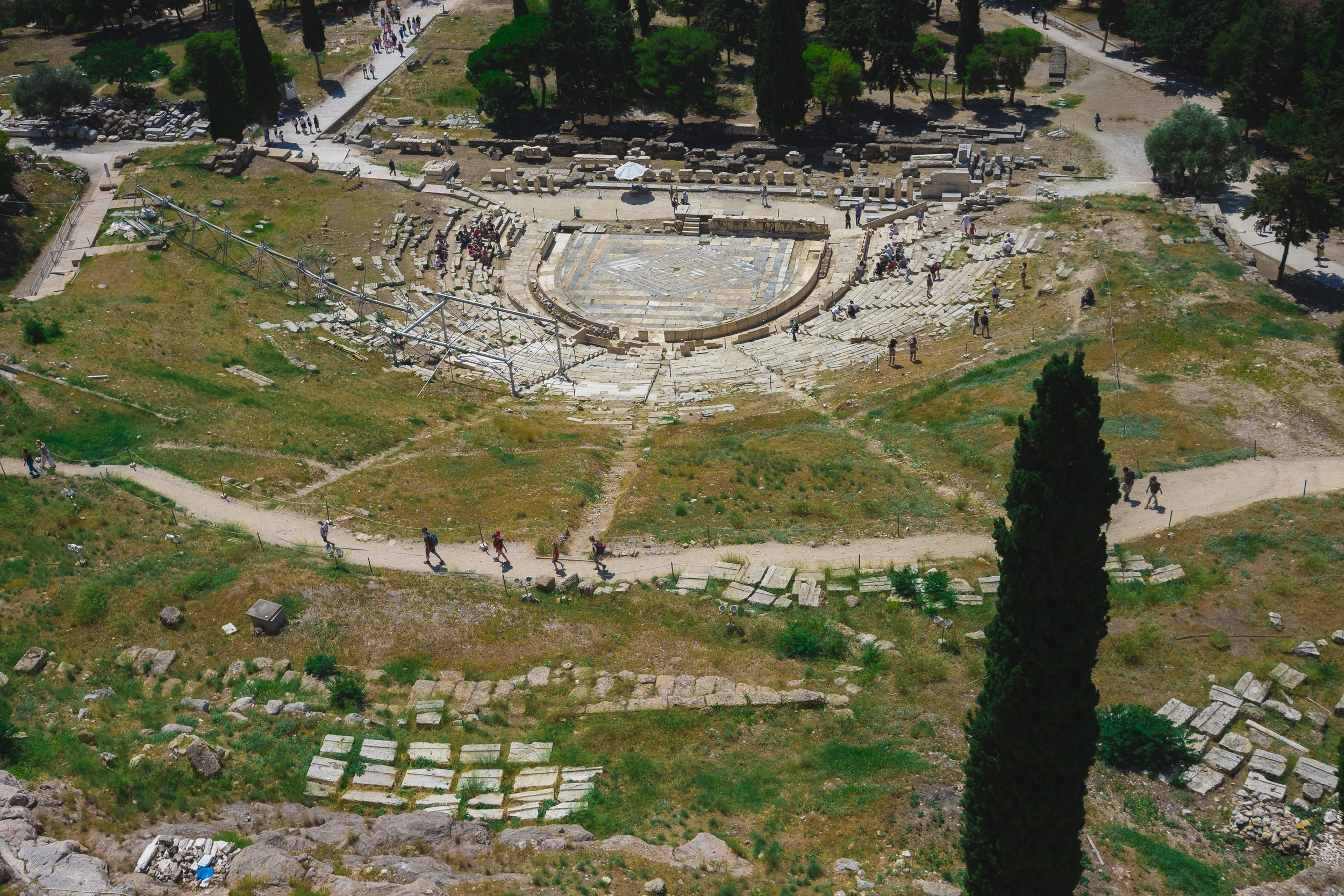 Amphitheatre from above