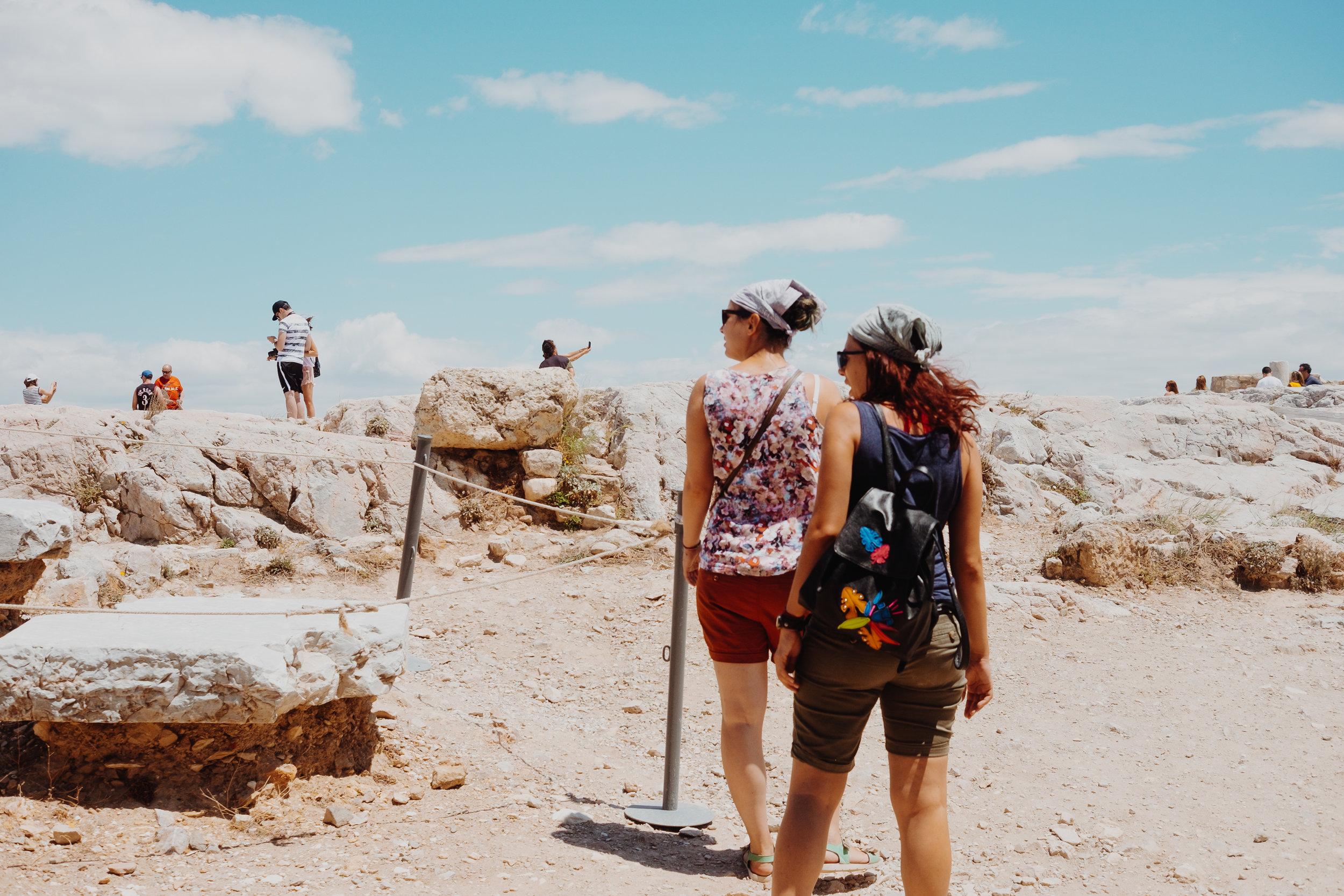 Acropolis tourists