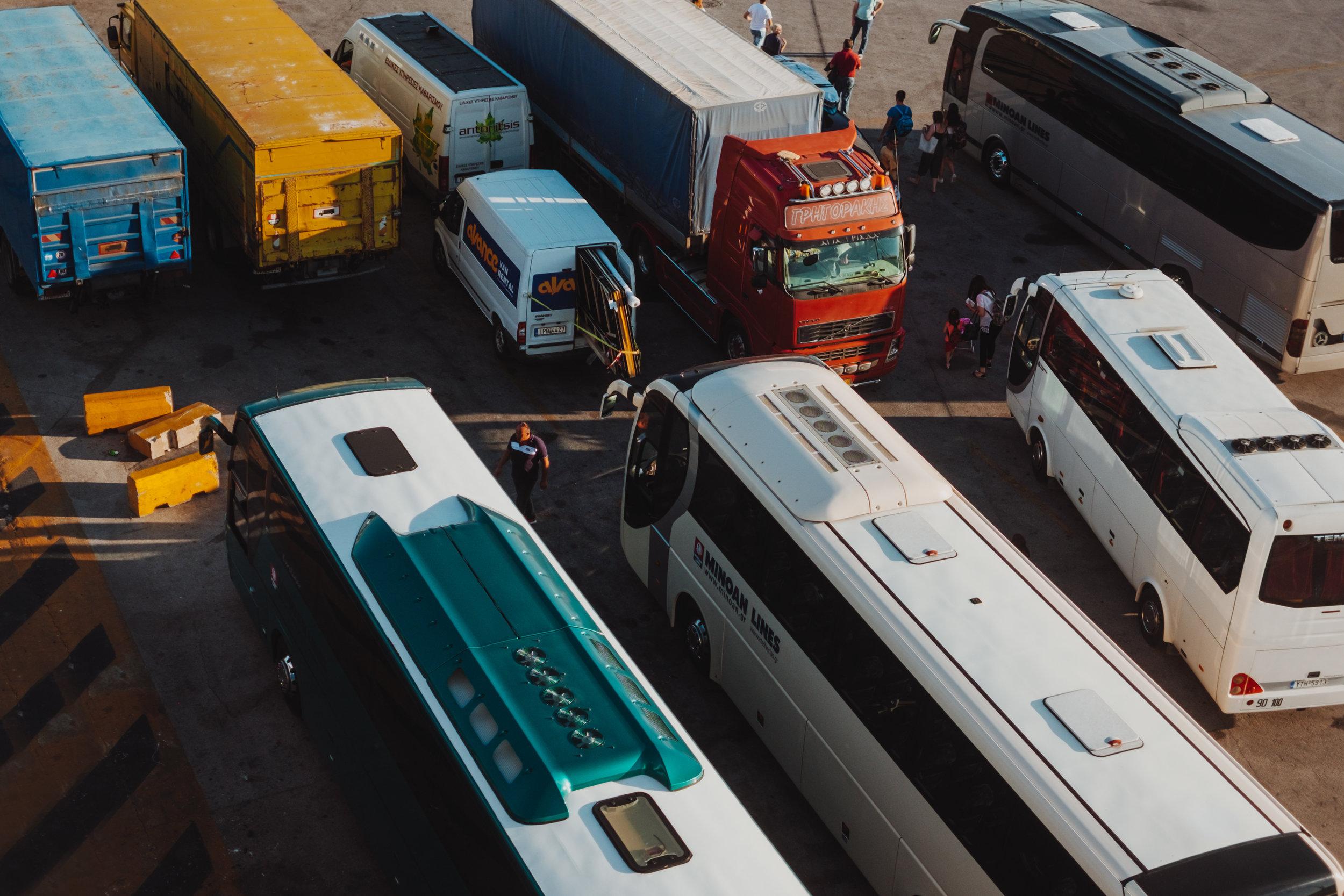 Buses at Piraeus