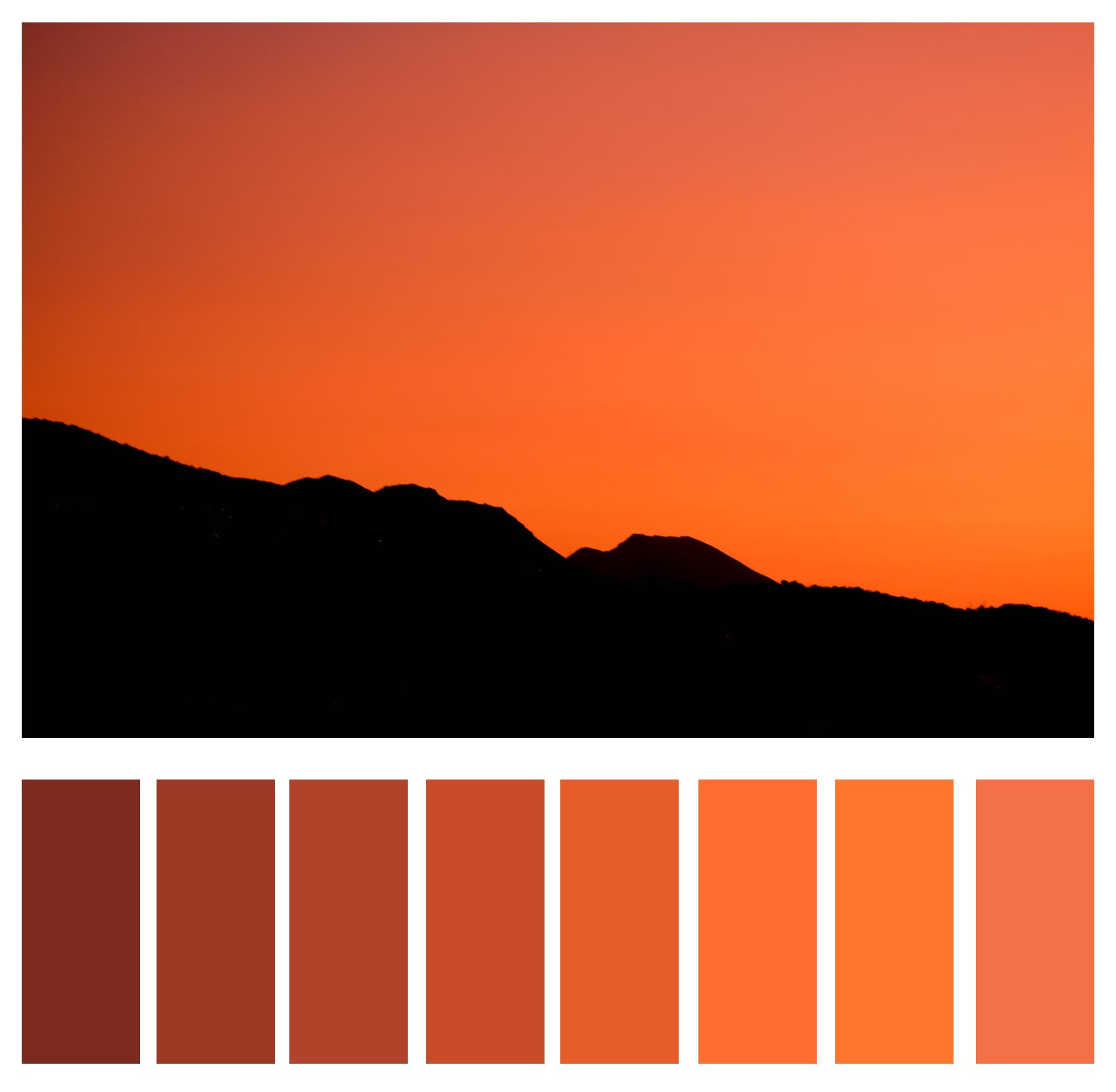 Figure 5b: Shades of orange.