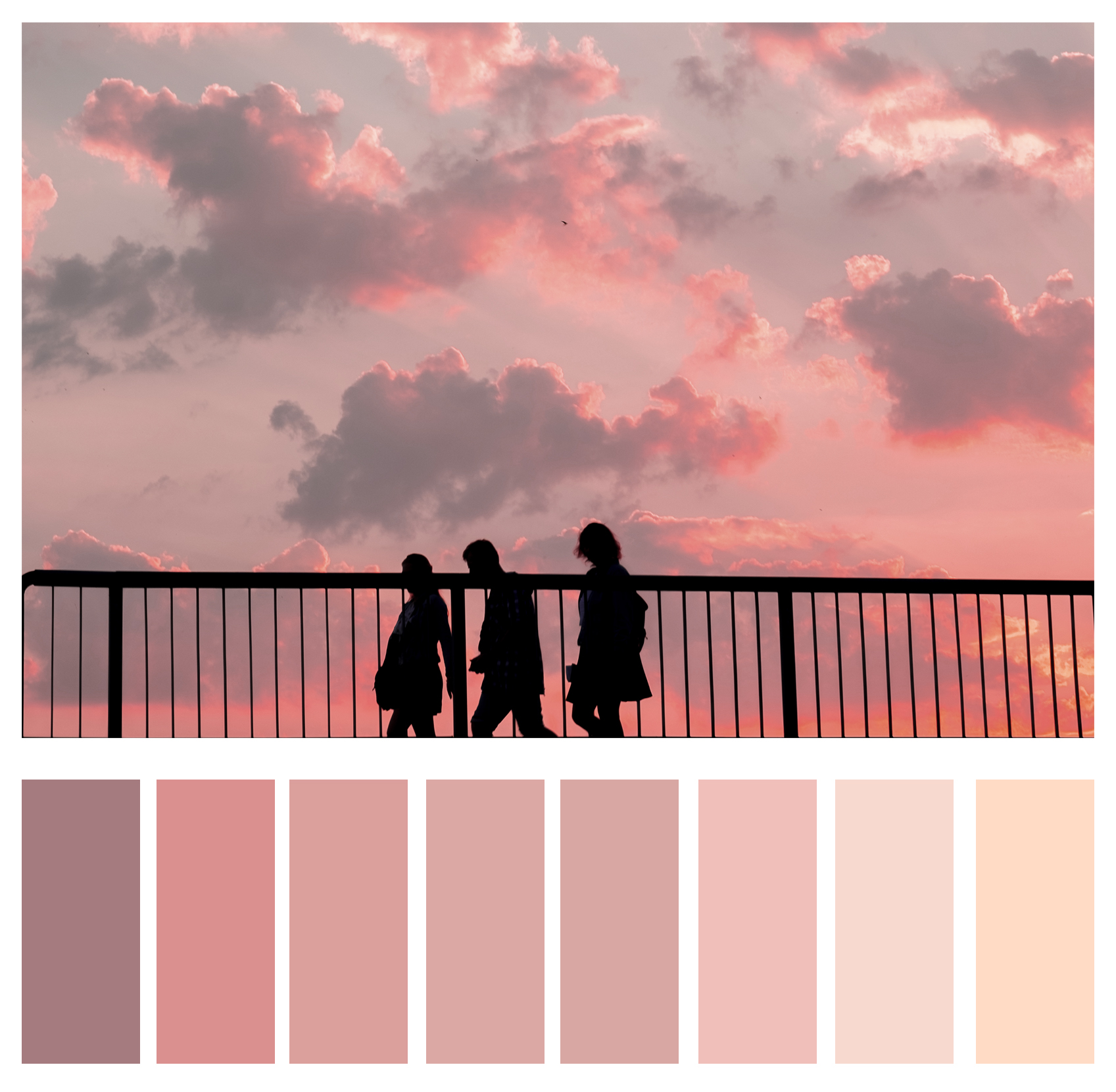 Figure 5c: Shades of pink.