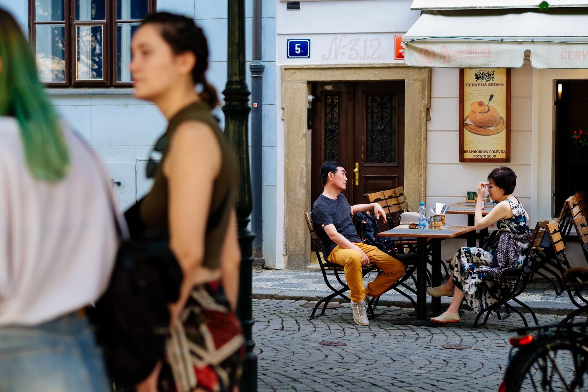 Prague cafe Charles Bridge