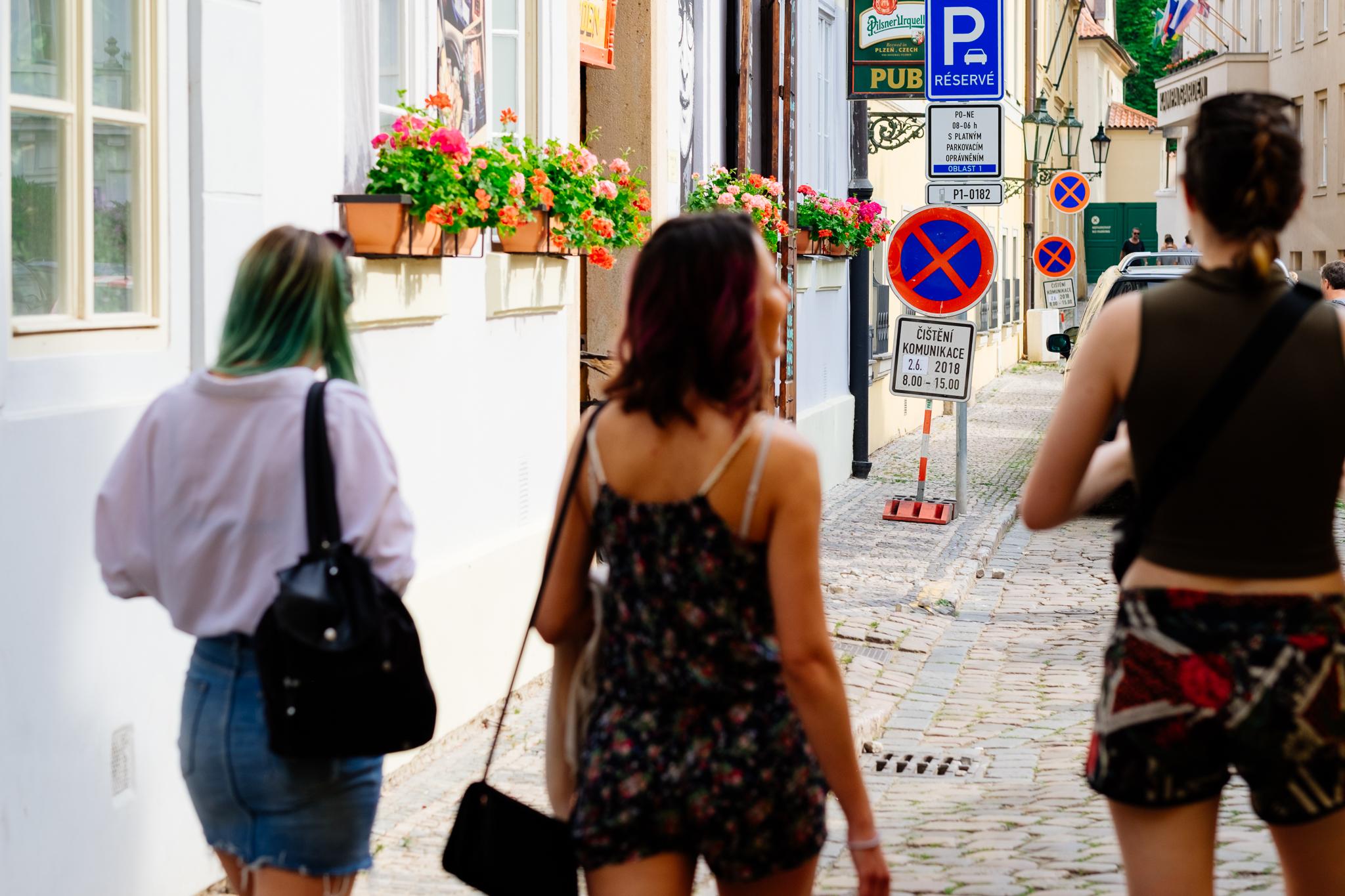 Prague streets Charles Bridge