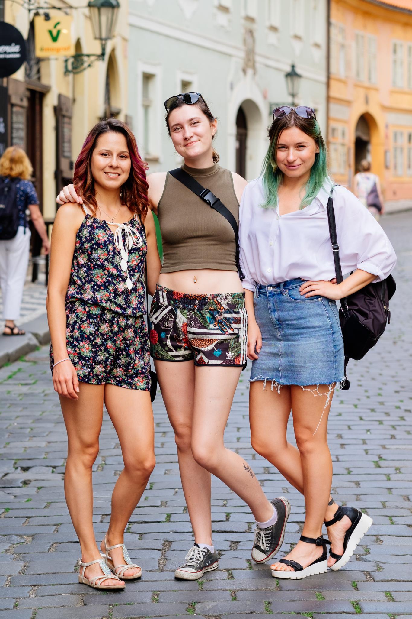 Charles Bridge Prague Streets Friends Portrait