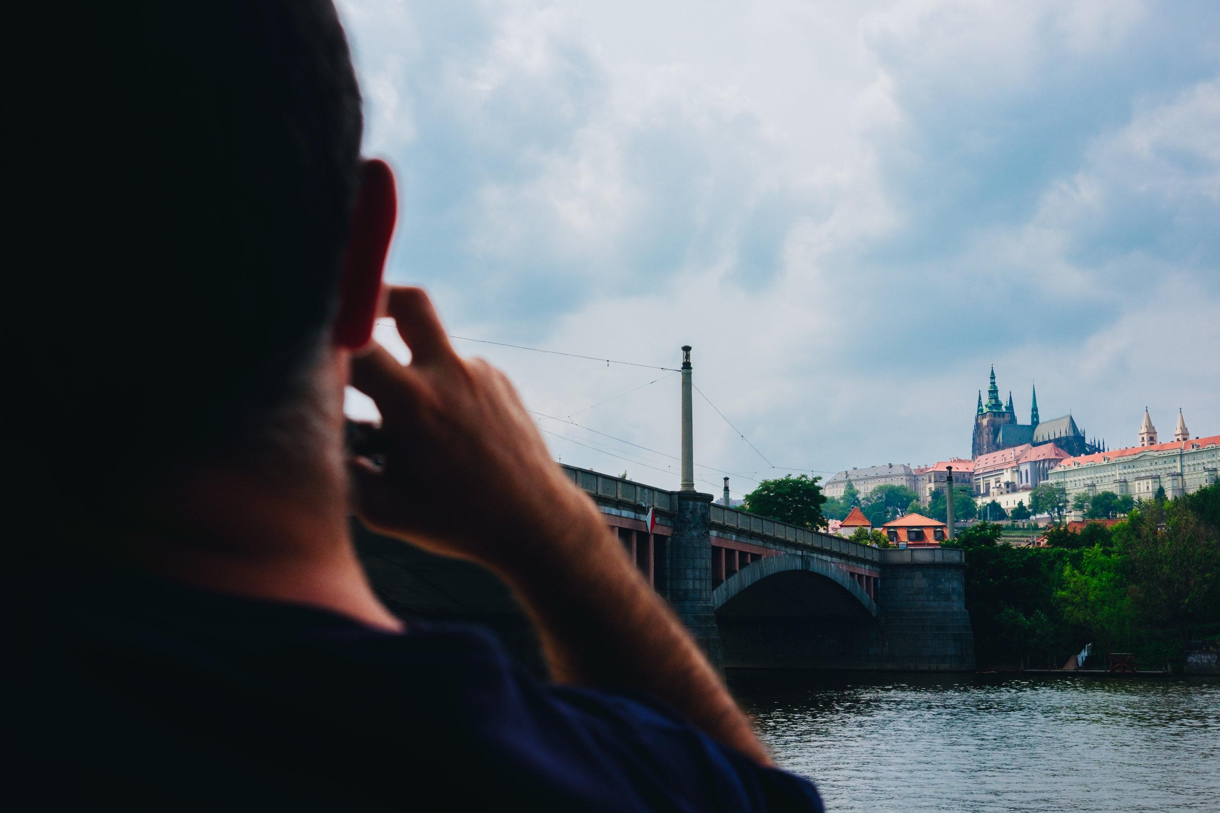 boat cruise on the Vltava Prague Praha Prague Castle