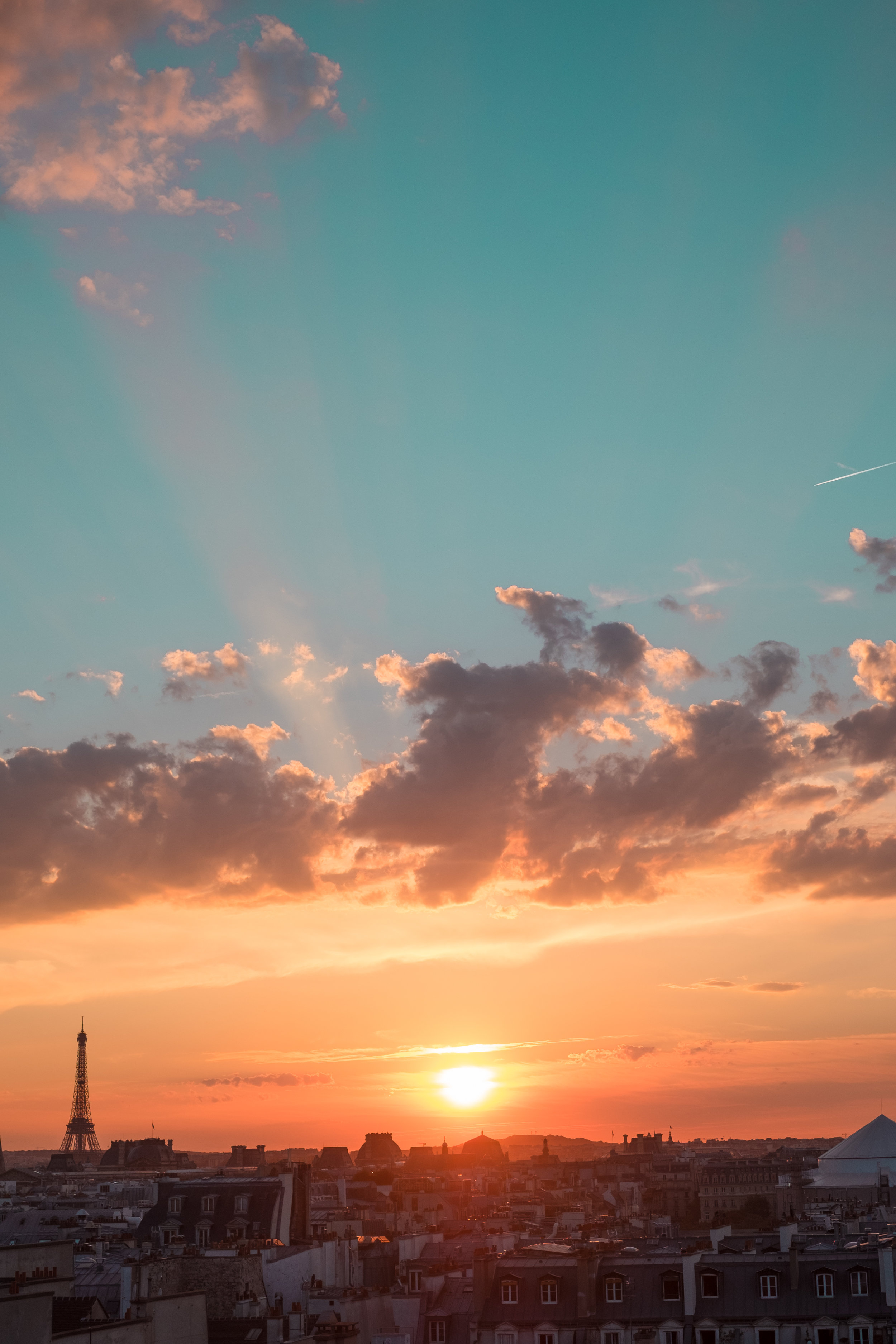 paris sunset photography eiffel tower