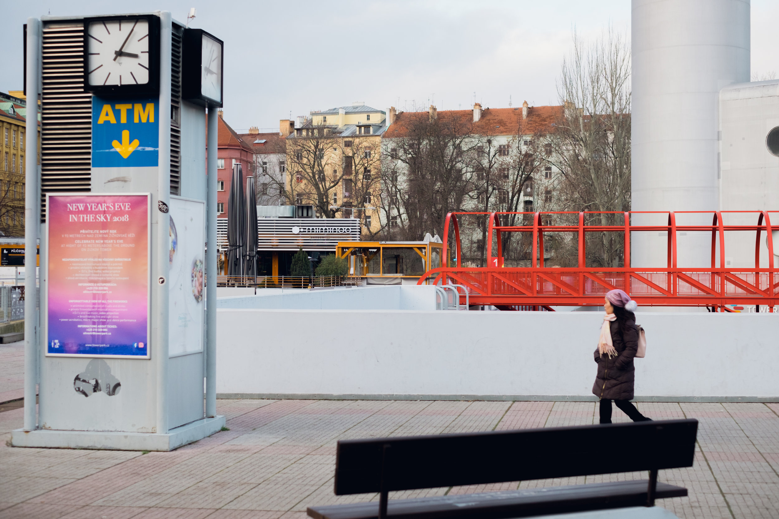 zizkov tv tower plaza street photography prague