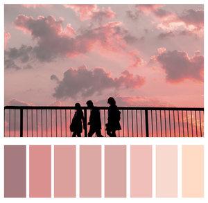 Monochrome colors.