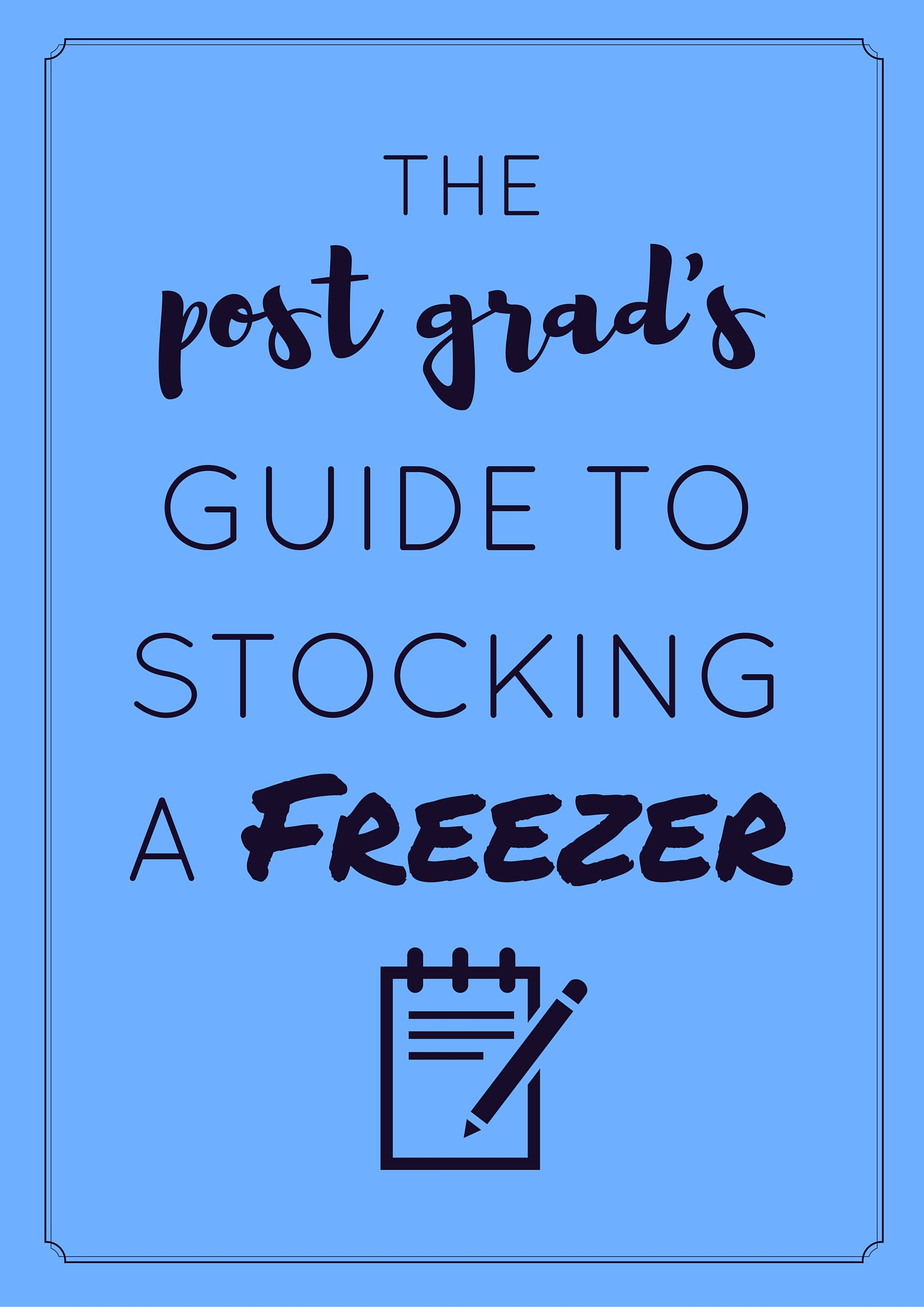 How to use your freezer for eating healthy, easy meals at home. | themillennialmenu.com