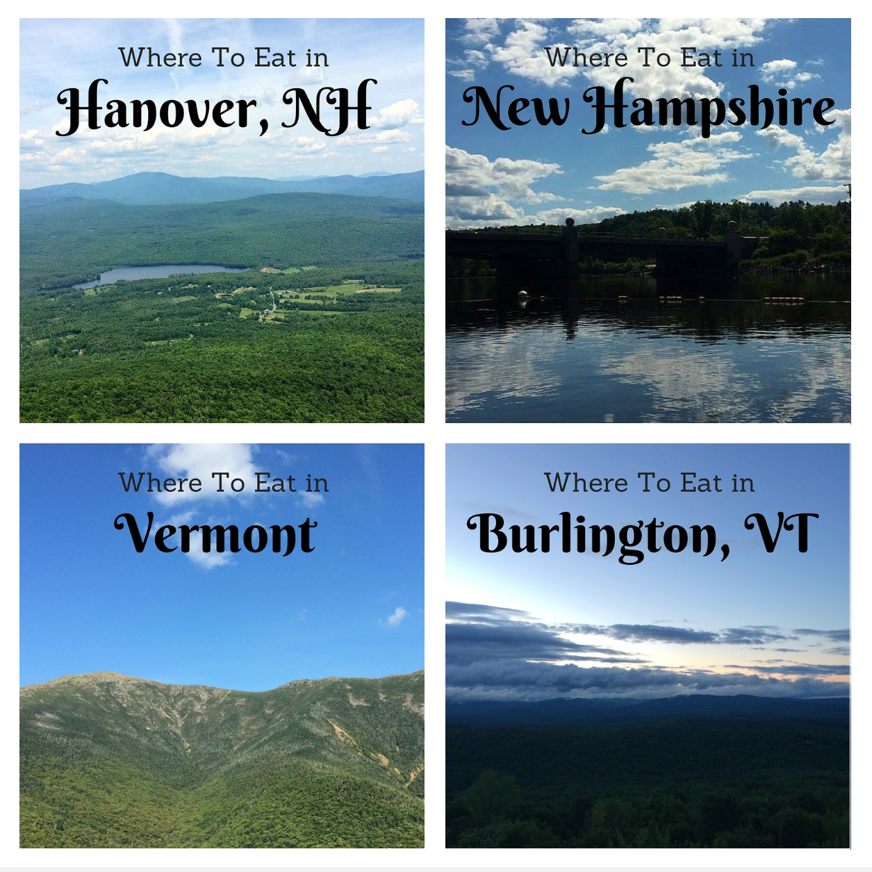 A Foodie's Favorites in the twin states of New Hampshire and Vermont. | themillennialmenu.com