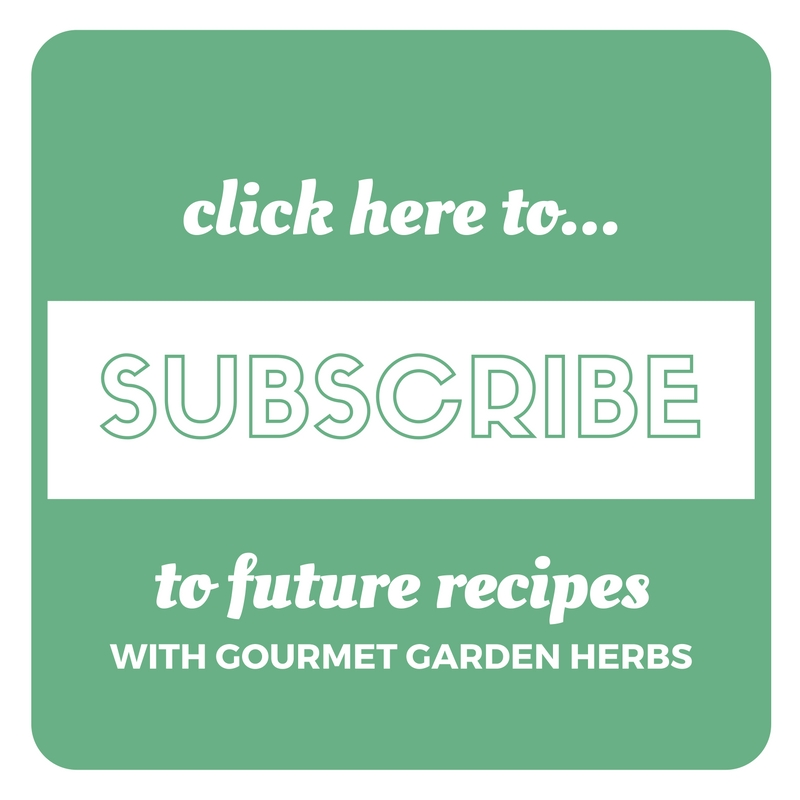 subscribe to the millennial menu blog for more recipes featuring flavorful gourmet garden herbs!