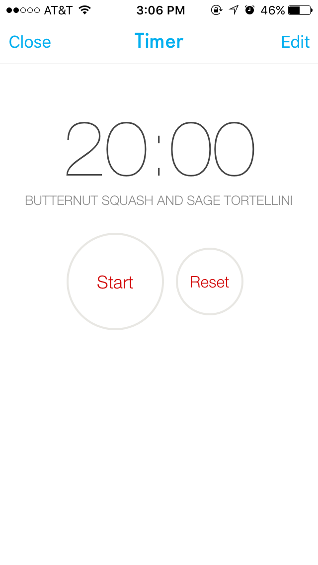You can even set timers within the app to make sure you don't forget anything as you're cooking!