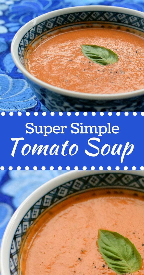 Super Simple Tomato soup is perfect for making big batches for the freezer. Tastes amazing with grilled cheese, too! | themillennialmenu.com