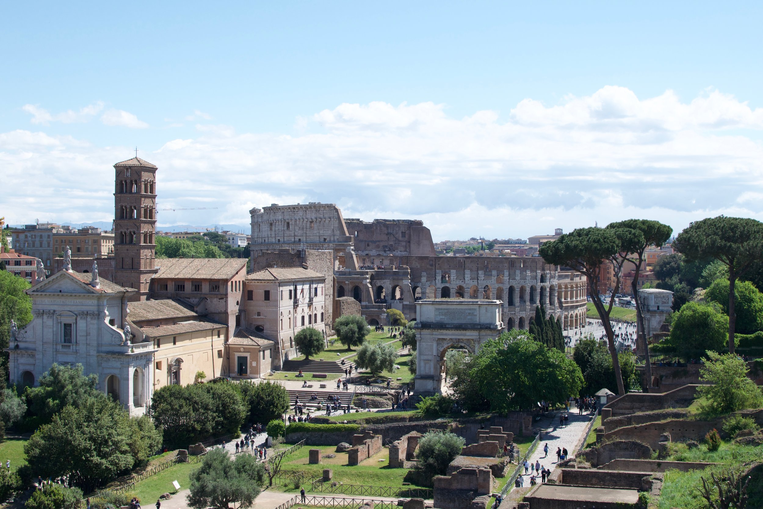 We snapped this photo from the top of the palatine hill. This is currently my computer desktop and I don't want it to ever change.