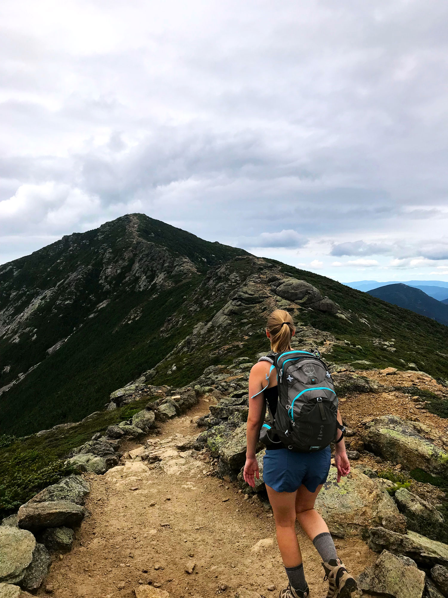 I hiked the beautiful exposed ridge of franconia ridge trail twice this summer in the white mountains of New hampshire.