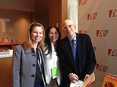 JILL PARADISO, LEAH MULLEDA (DISCIPLES OF PURPLE COW) WITH SETH GODIN