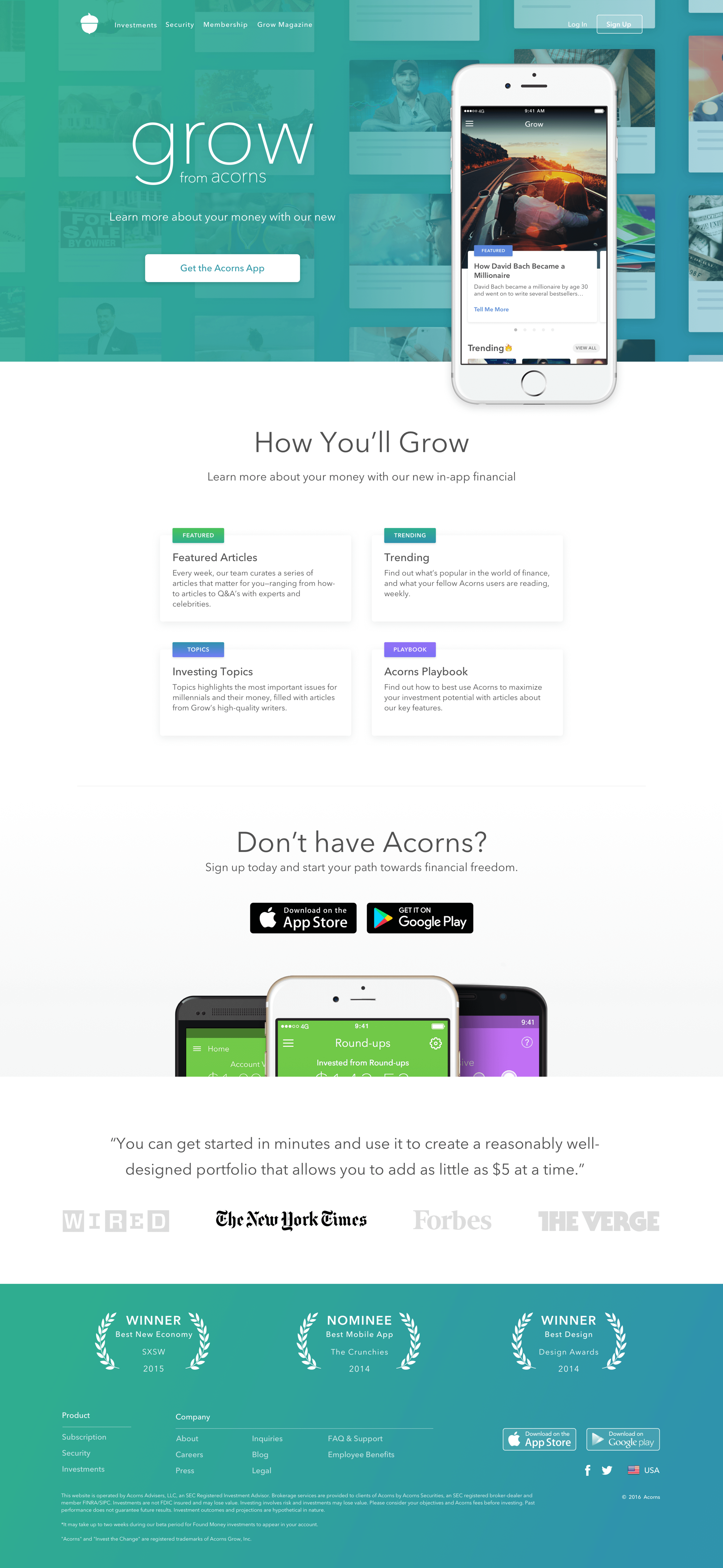 Grow In-App Marketing Page