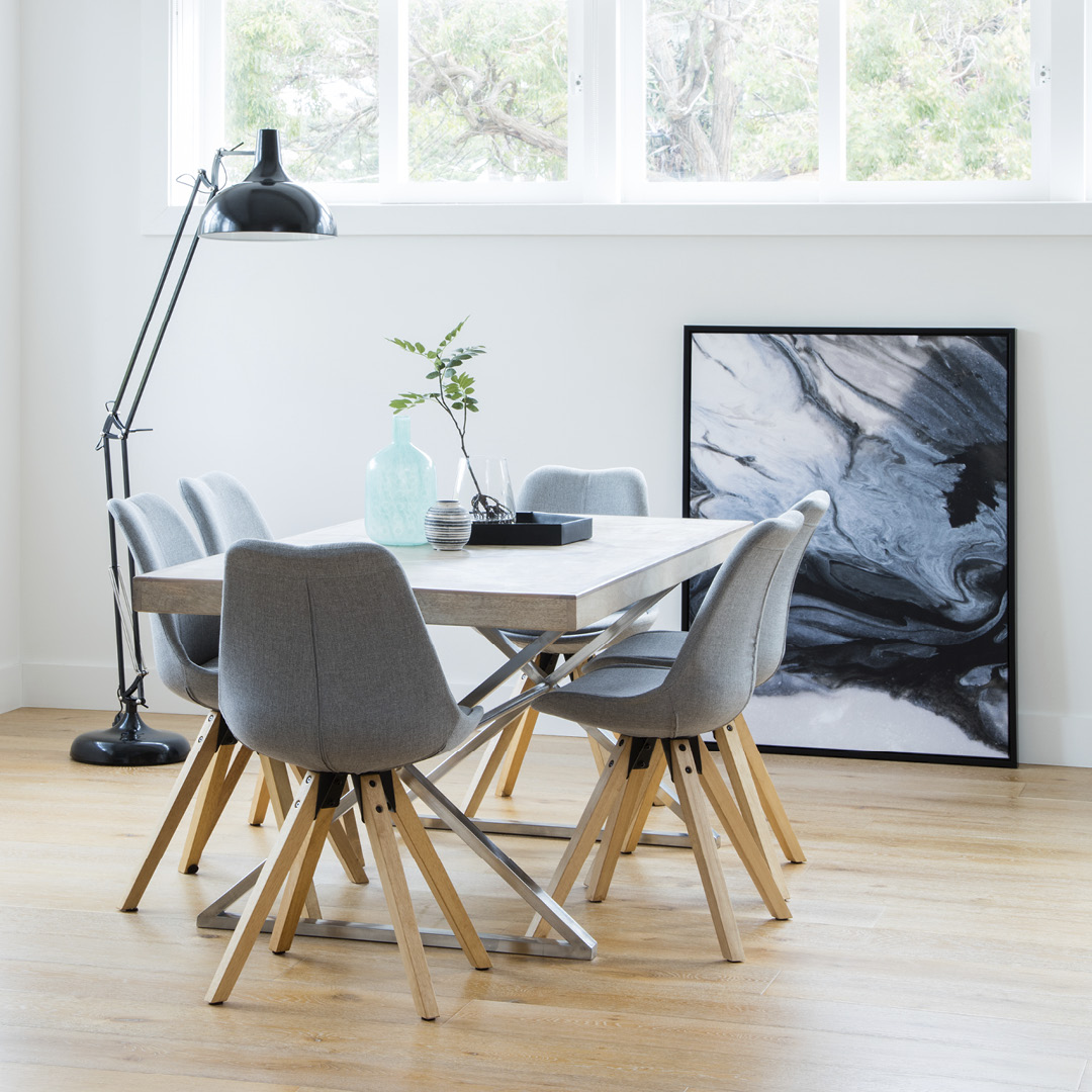MONTY dining table with DIMA chair