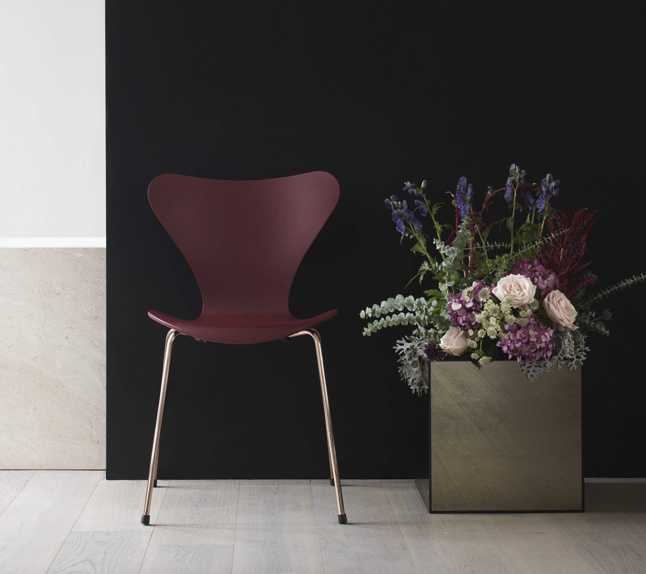Republic of Fritz Hansen's limited edition Arne Jacobsen chairs were inspired by cherry blossom