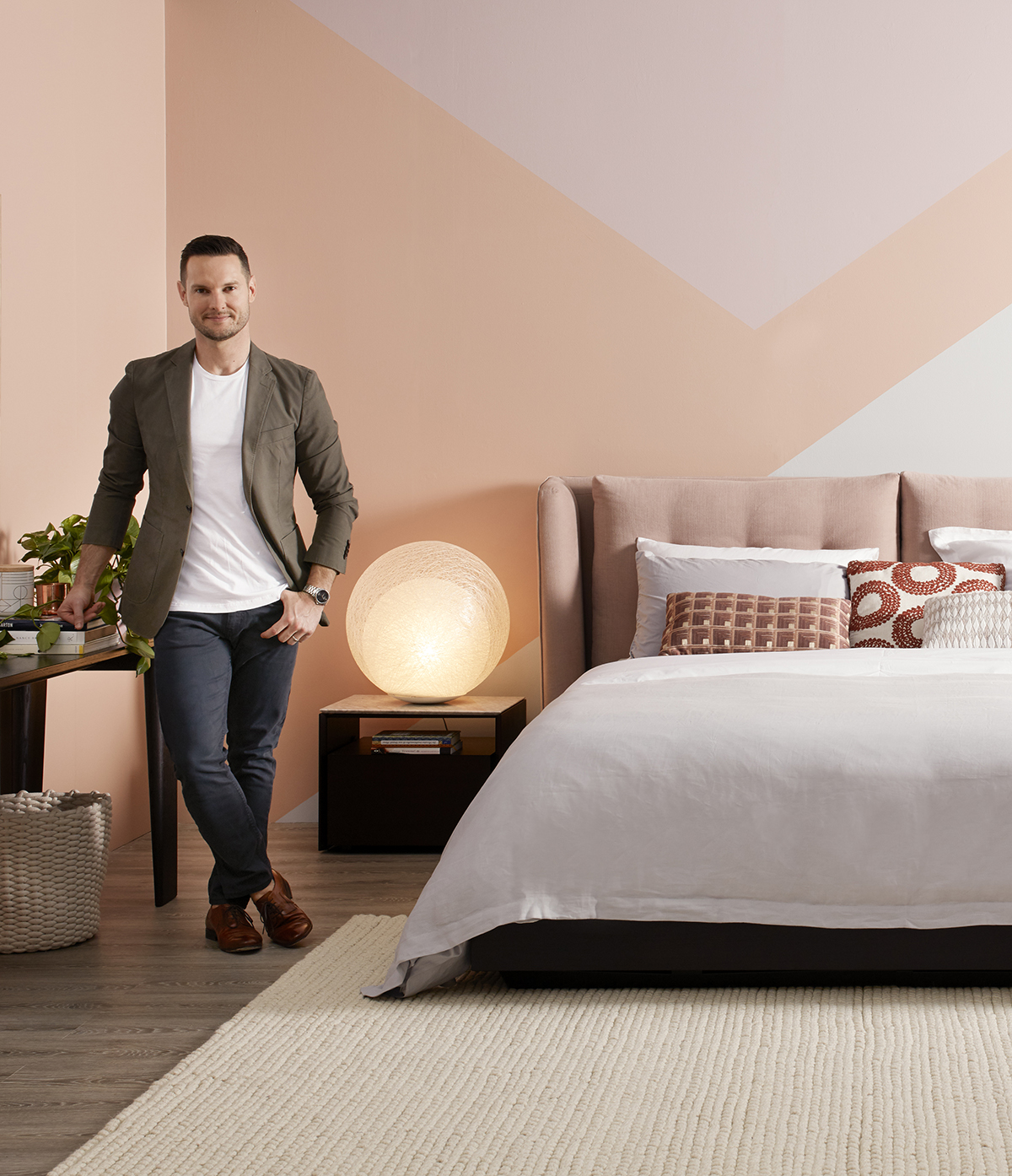 Symphony storage bed from King Living   /    Styling  Darren Palmer   /    Photography  Felix Forest