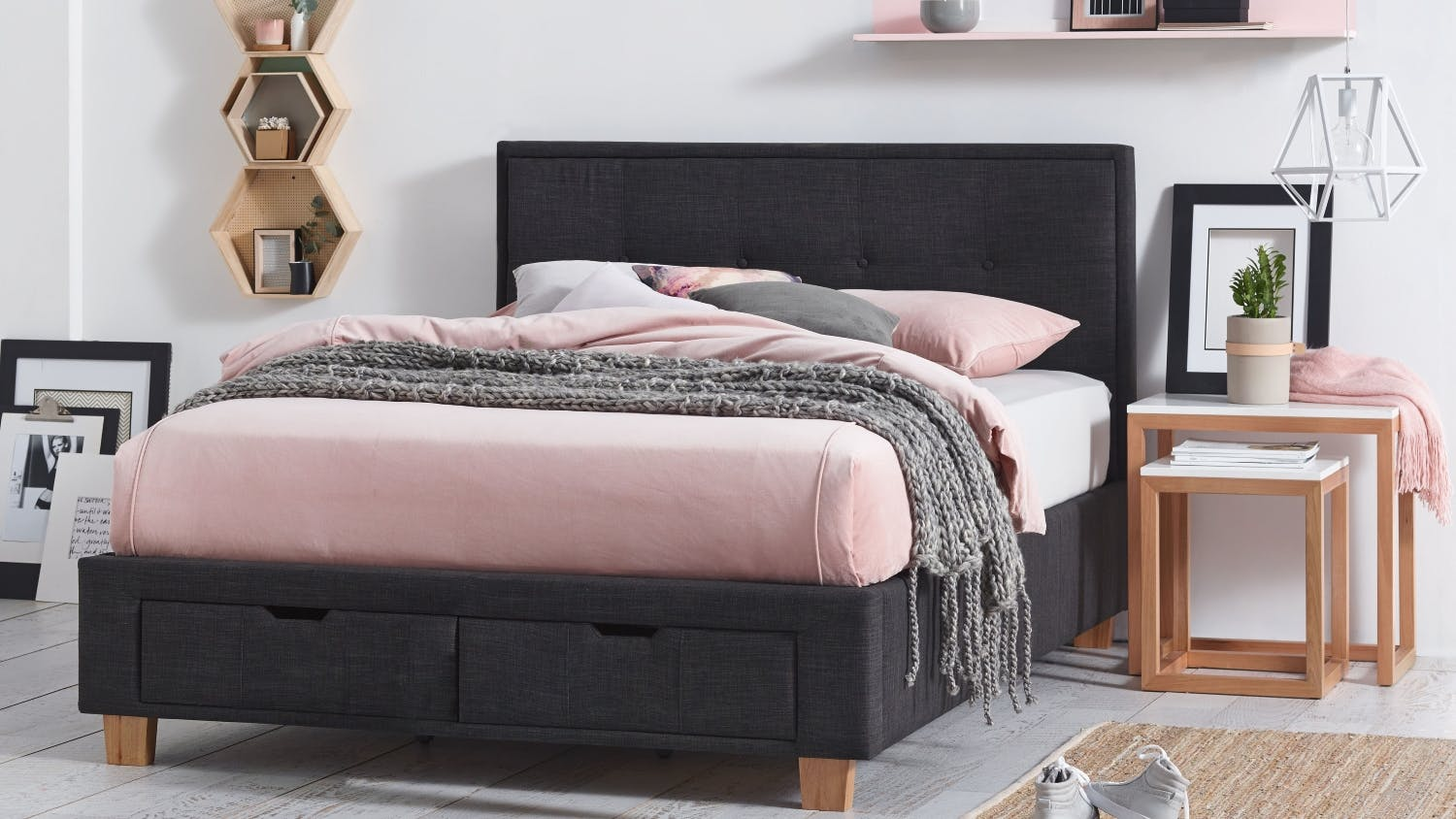 Halo bed frame with storage from Domayne