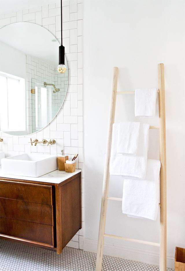 DIY towel ladder by Sarah Sherman Samuel