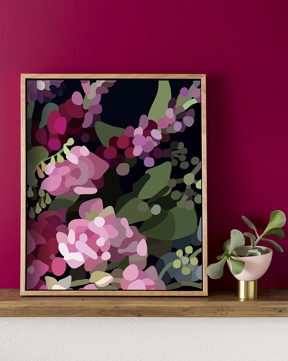 Kimmy Hogan's  Bloom V  print     Photography  Cricket Studio  /   Styling  Greenhouse Interiors