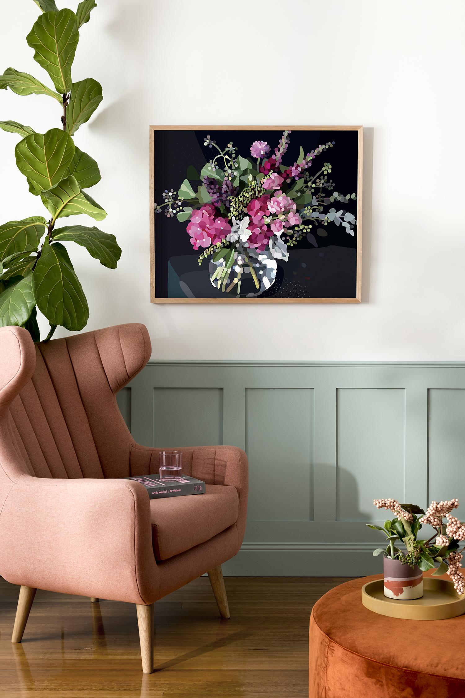 Kimmy Hogan's  Bloom I  print  /   Photography  Cricket Studio  /   Styling  Greenhouse Interiors
