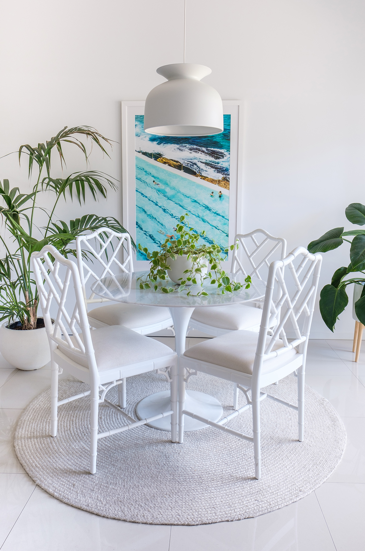 I also updated the art in my dining area with a photographic print by Kara Rosenlund
