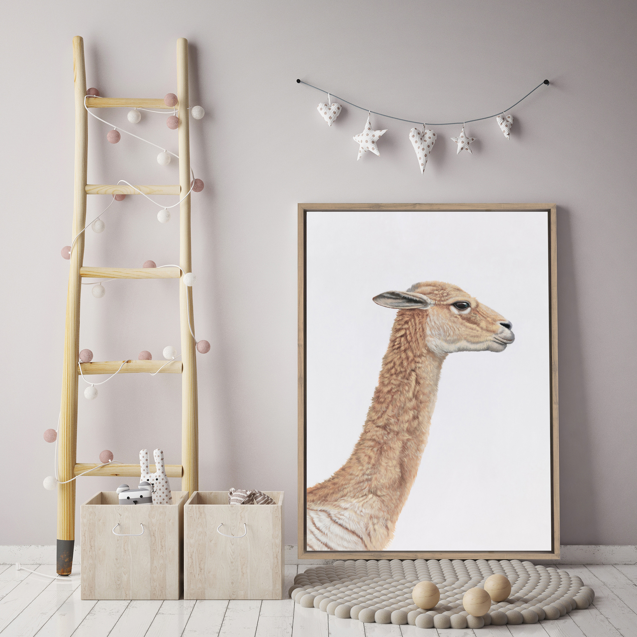 Baby Alpaca Canvas By The Print Emporium.jpg