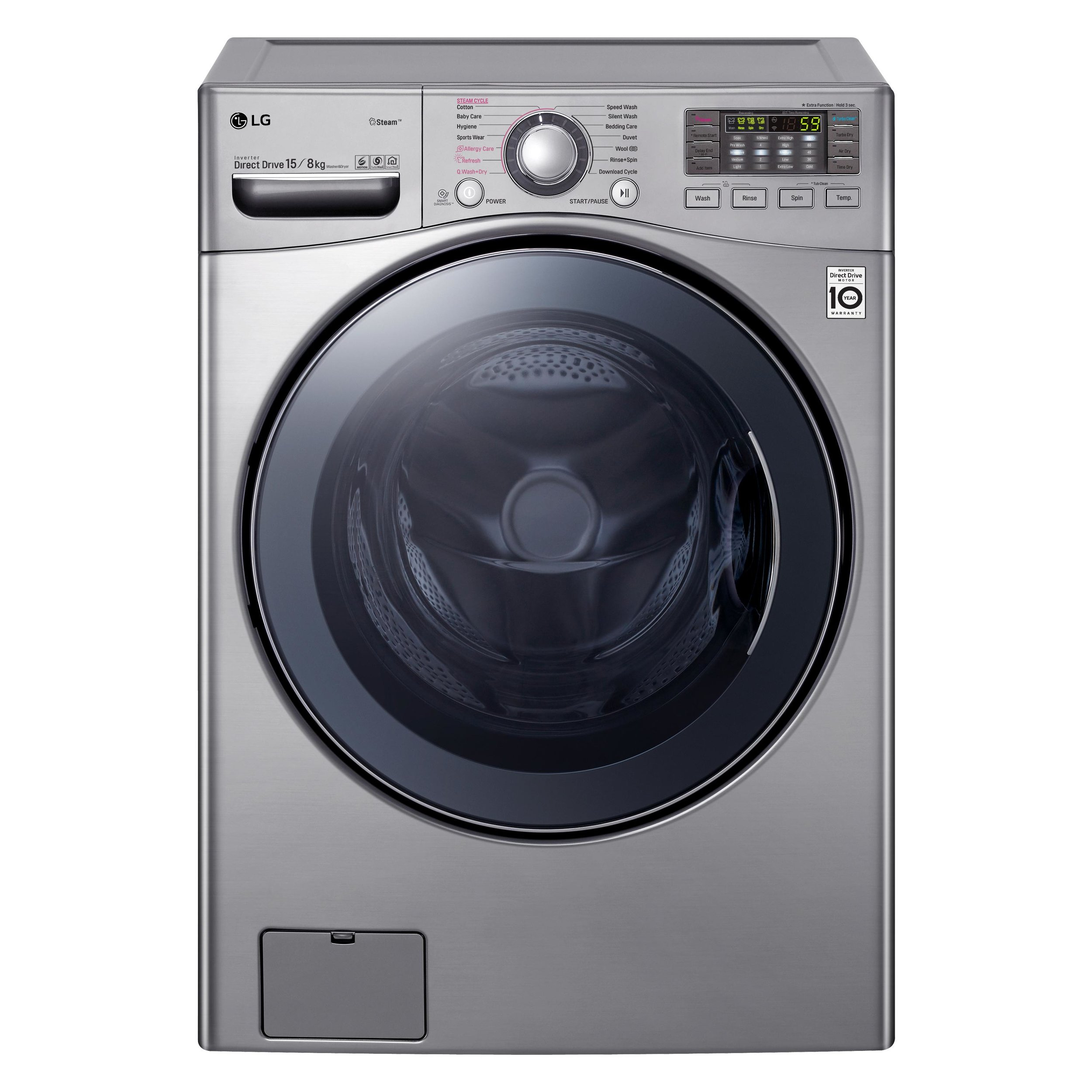LG Front Load Washer Dryer Combo with True Steam® [WD1215HSVE]_Front.jpg