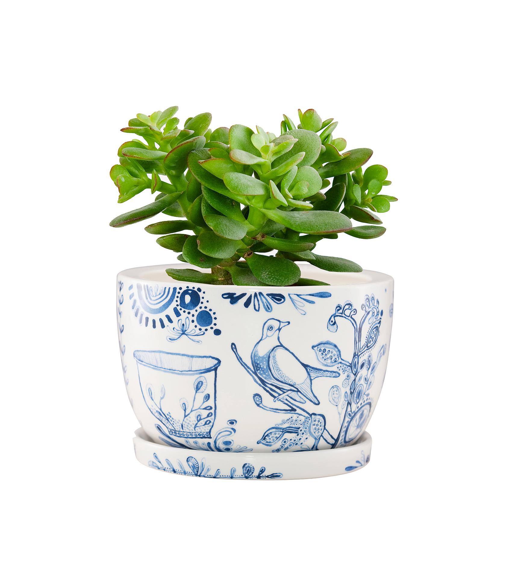 smallDecorative Plant Pot Painted Indigo FRONT.jpg