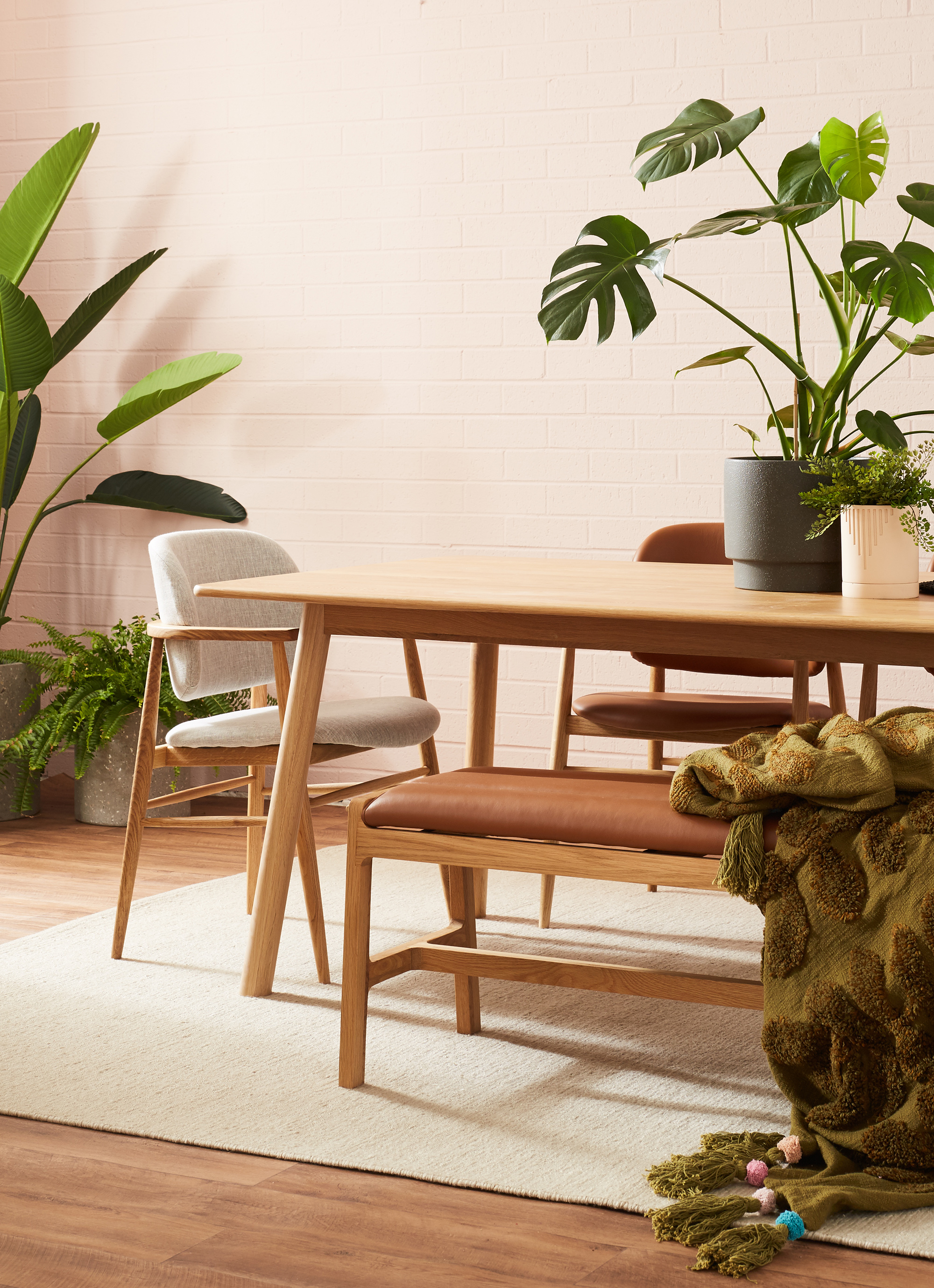 Finland rectangle dining table from Life Interiors