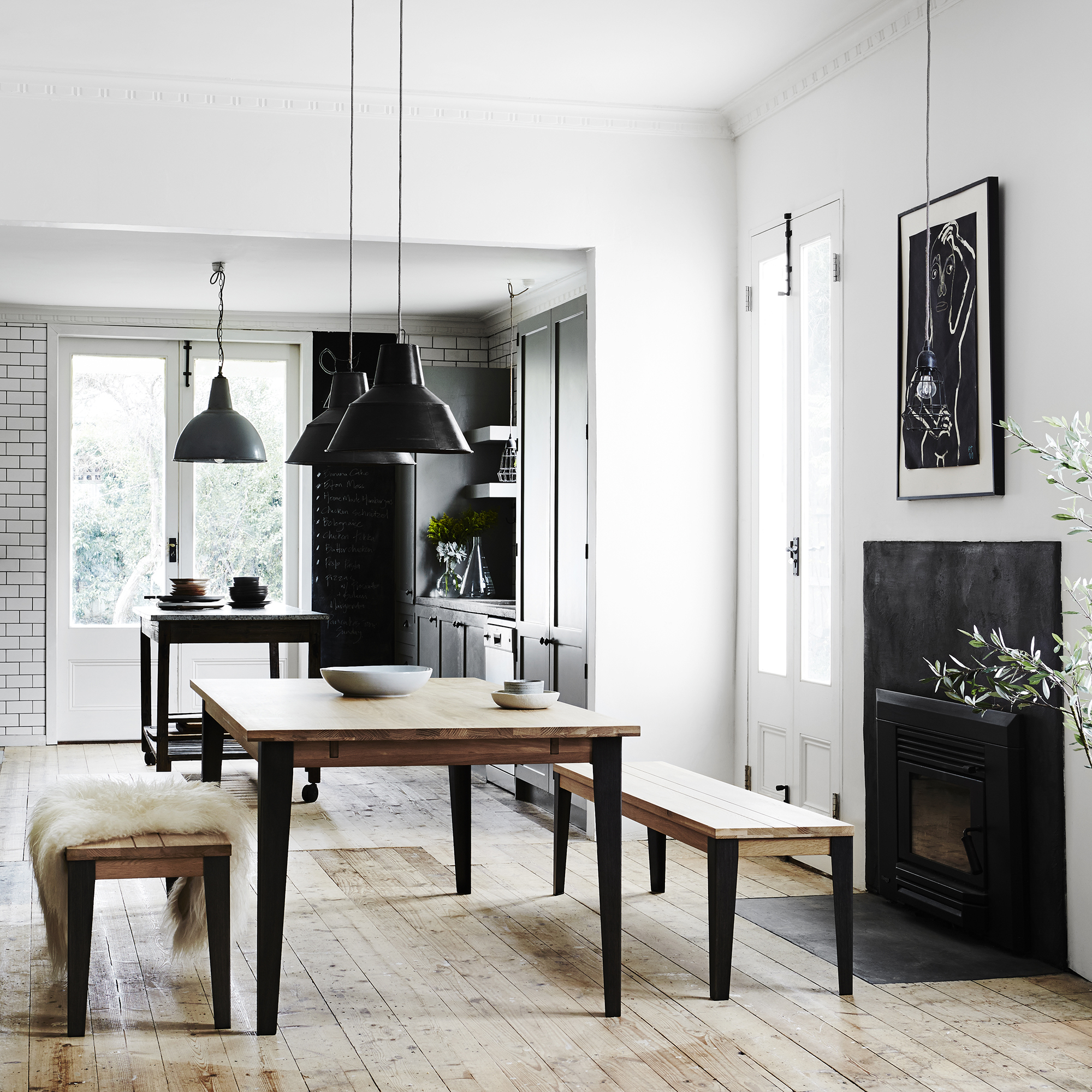 Industrial M extension dining table from Curious Grace