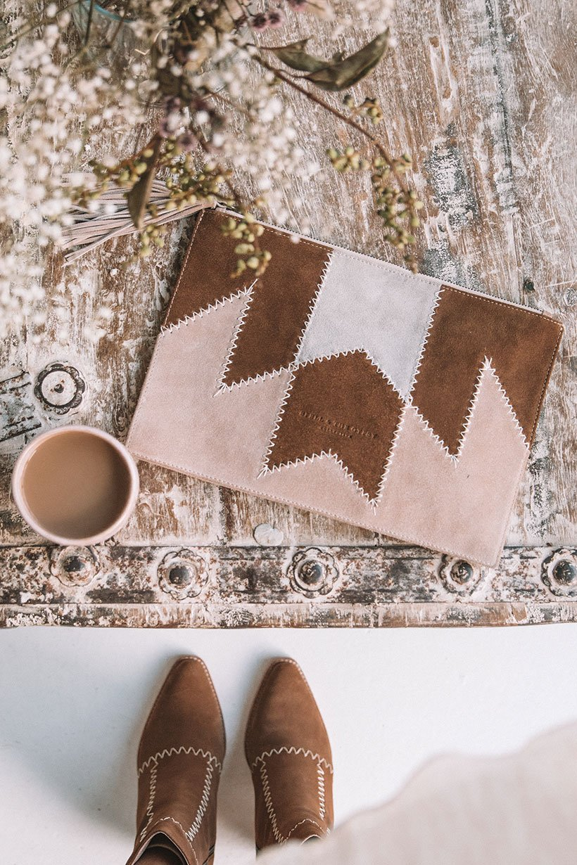 Zephyr patchwork clutch from Spell & The Gypsy