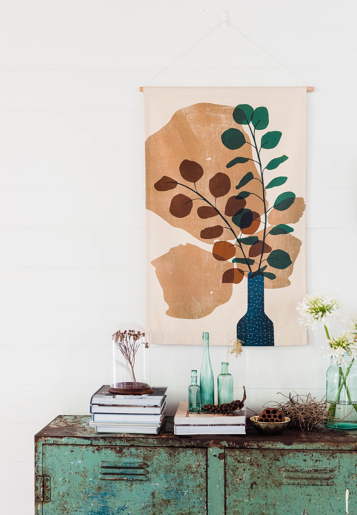 Sepia Silver Dollar midi wall hanging from Home Dweller  / Photography: Hannah Puechmarin / Styling: Cheryl Car, Albert & Grace