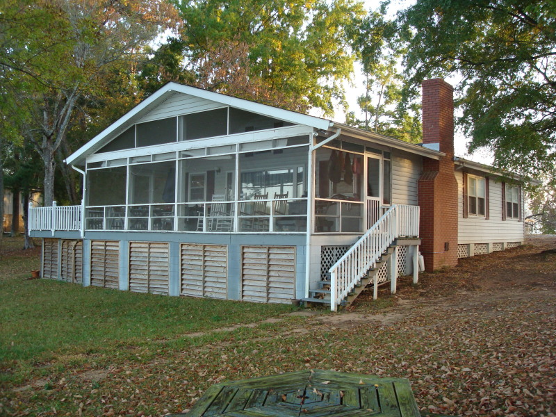This Liberty Hill house on Lake Wateree was raised for a new foundation.