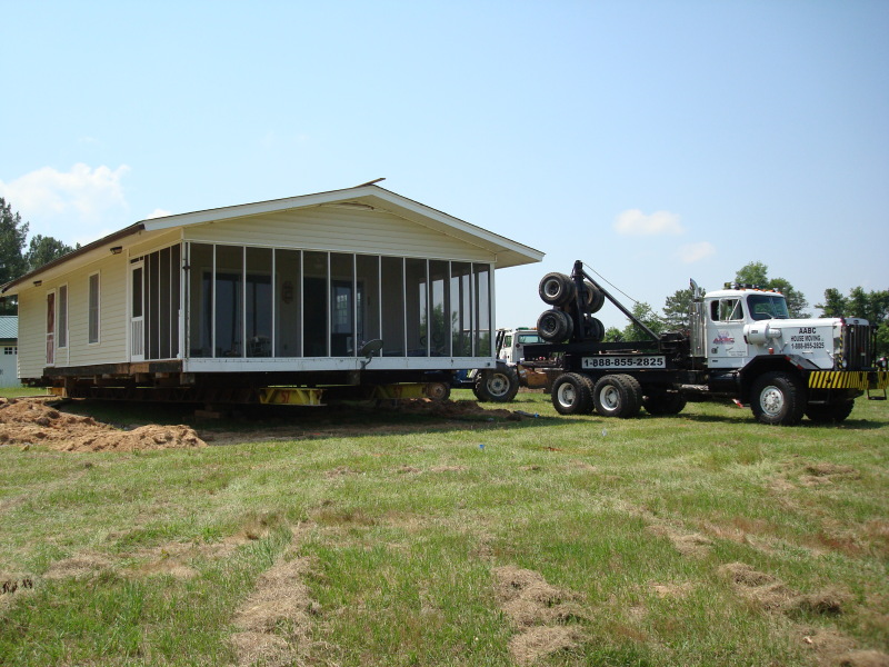 The house was lowered and moved to Bishopville.