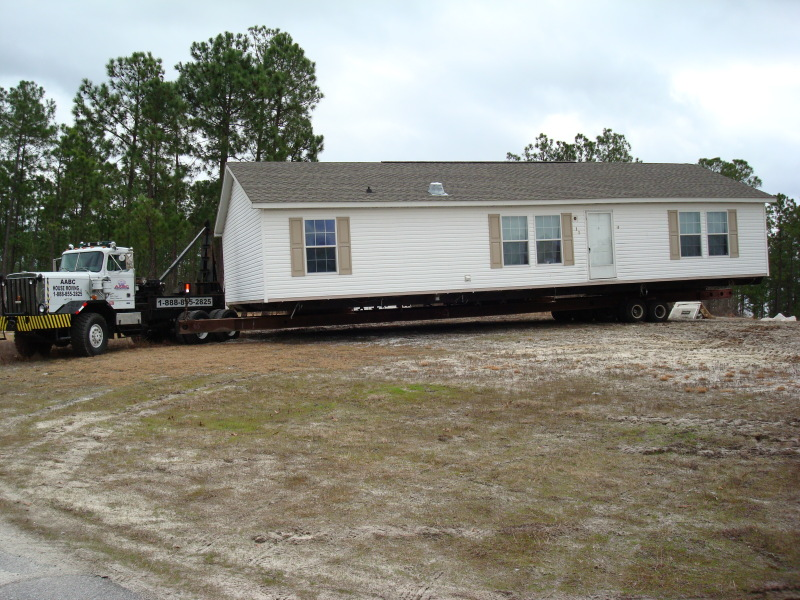 The home arrived safely and is ready to be placed on its new lot.