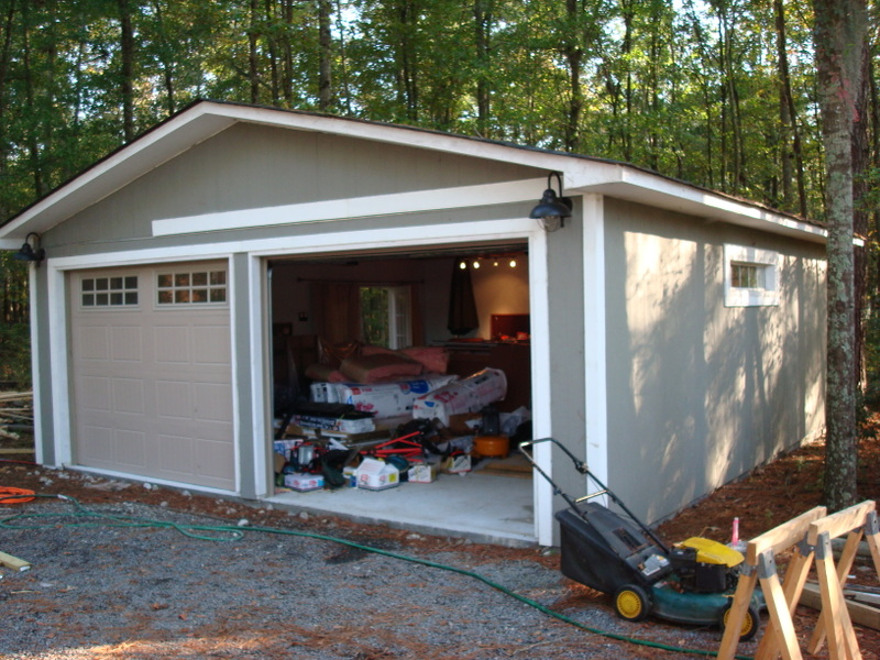 Homeowners in Summerton wanted to move this garage to a different location on their property.
