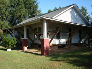 This Heath Springs house needed to be raised in order to replace the old foundation.